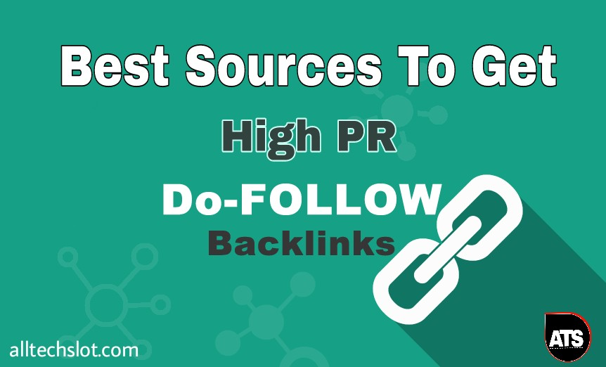 Get High PR Dofollow backlinks